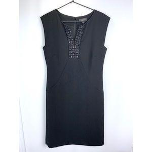 Tahari Arthur S. Levine LBD embellished neckline